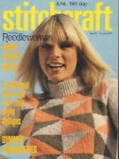 Stitchcraft Magazine Super Sporty Knits June 1981 061218nonr