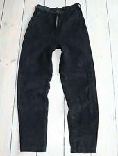 Women's Vintage VERA PELLE High Waist Black 100% Leather Jeans Trousers W25 L30