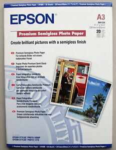 Epson Premium Semigloss Inkjet Photo Paper A3 20 sheets SO41334