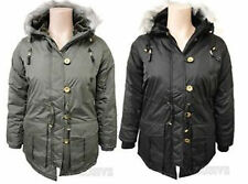Unbranded Women's Hip Length Outdoor Button Coats & Jackets