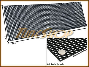 "PLASTIC ABS UNIVERSAL BLACK SPORT MESH GRILL GRILLE CAR STOCK OE STYLE 15""X46"" E"