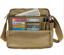Mens boys canvas Handbag messenger Shoulder purse wallet ipad bag Messenger bag
