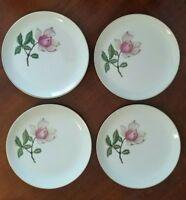 Crooksville China Delmar Diana BREAD & BUTTER Plates Magnolia - Lot of 4