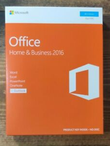 NEW MICROSOFT HOME AND BUSINESS 2016 For WINDOWS 1 PC T5D-02776