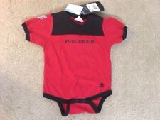 NEW Infant WISCONSIN BADGERS  ADIDAS FOOTBALL JERSEY    Size 18-24 Months