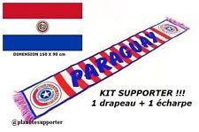 ECHARPE + DRAPEAU PARAGUAY maillot fahne flag scarf schal sciarpa bufanda ...