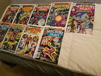 Machine Man Marvel lot 3 4 5 6 7 8 9 10 12 Bronze Age High End comics Jack Kirby