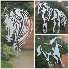 FROSTED GLASS VINYL STICKER, EQUESTRIAN,HORSE,WINDOW,CAR DECAL,HORSE BOX,VEHICLE
