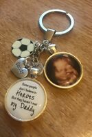 Personalised Photo Keyring - Believe In Heroes Daddy Fathers Day Gift Present