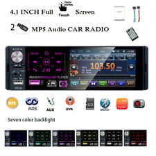 4''1 Din Car Radio 2USB Full Touch Screen RDS AM Stereo Bluetooth FM MP5 Player