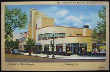 Washington, DC Greyhound Bus Terminal Old Cars Linen Postcard OB-H974