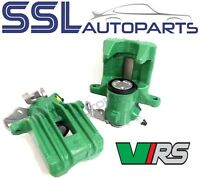 SKODA FABIA RS / VRS 2003> Pair Of GREEN Rear Remanufactured Brake Calipers