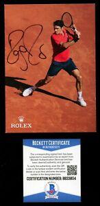 Roger Federer signed autograph auto 4x6 Rolex Photo Tennis Legend BAS Certified