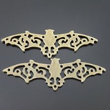 15 pcs Antiqued Bronze Alloy Halloween Bat Charms Pendant Craft Findings 35540