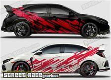 Honda Civic Rally 002 racing motorsport graphics stickers decals vinyl