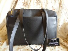Authentic VINTAGE CHANEL TOTE JUMBO GST Leather Shoulder Bag Purse+CARD T188