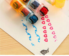 3pcs combination pens shape Stamps sets cycle roller Stamp Kids DIY Handmade