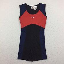 Vintage Nike Racing Blue Red Running Sprinter Speedsuit Women's Medium M