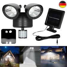 LED Solar Strahler Lampe Mit Bewegungsmelder Außenleuchte Garage Außen Spotlicht