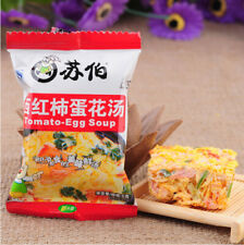 6g*20bag Chinese Instant vegetable Soup Fast Food Tomato Egg soup New Delicious