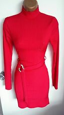 Stretch Bodycon Hugging High Neck Polo Mini Dress Party Summer Fitted Natanella