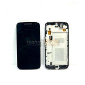 Genuine Motorola Moto G4 (XT1622) LCD Assemblyy +Frame Used Black