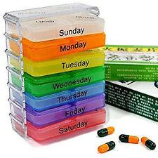 7 Jour Pilulier Semainier Boite Pilule Médicament Semaine Pastillero Pill Box NF