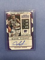 2020 Panini Contenders Red Foil Game Ticket XAVIER SNEED RC Auto #139