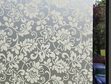 *aba-Decor* Frosted Static Stained Glass Window Decorative Vinyl Privacy Film