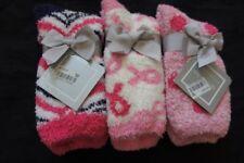 Charter Club Womens Socks Shoe Sz 6 - 10 Pink Multi 3 Pairs Super Soft Socks