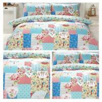 Patchwork Duvet Covers Osaka Pink Blue Floral Japanese Quilt Cover Bedding Sets
