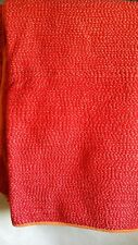 Pottery Barn Orange Red Cotton Summer Weight Reversible Quilt