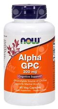 Now Foods, Alpha GPC - 300mg x60Vcaps