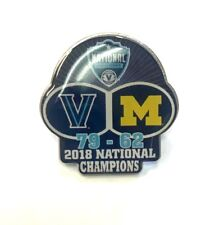 2018 Final Four Champs Score Pin - Villanova VS Michigan