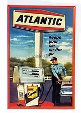"ATLANTIC GAS FUEL Fridge MAGNET  2"" x 3"" art NOSTALGIC VINTAGE"