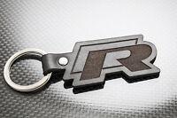 VW GOLF R Leather Keyring, Keychain Schlüsselring Porte-clés Tiguan Polo Passat