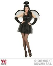 Ladies Bad Black Fairy Angel Costume Outfit for Holy Church Christmas Fancy