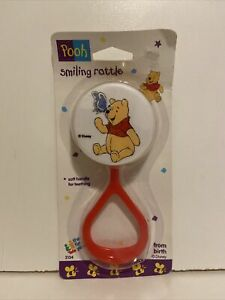 VINTAGE DISNEY WINNIE THE POOH THE FIRST YEARS BABY RATTLE POOH & BUTTERFLY
