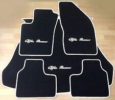 Autoteppich Fußmatten Kofferraum für Alfa Romeo 156 Sportwagon schwarz weiss Neu