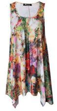 Maglie e camicie da donna multicolore elasticizzati senza marca