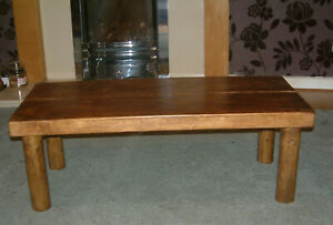 Coffee table - Chunky wooden table - Rustic handmade table