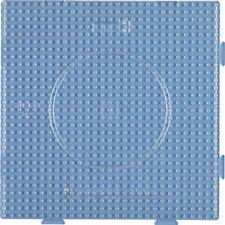Hama Midi Bügelperlen Stiftplatte transparent 234 TR Quadrat groß erweiterbar