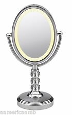 Be71Ctx Conair 7X/1X Magnifying Make-Up Mirror Lighted Polished Chrome Crystal
