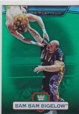 2010 TOPPS WWE PLATINUM BAM BAM BIGELOW GREEN THICK SHINY WRESTLING CARD #74
