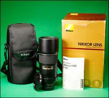 Nikon Nikkor AF-S 300mm F4D IF ED Lens With both Caps, Hood, Case & Box