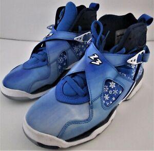 Nike Air Jordan 8 VIII Retro GS Snowflake Size 4.5Y EXCELLENT COND - 305368-400