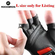 ROCKBROS Cycling Bike Anti-slip Shockproof Gel Gloves Thickened Pad Short Gloves