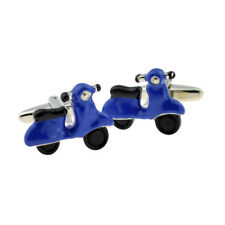 Dark Blue Scooters Cufflinks X2AJ939