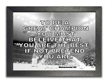 Muhammad Ali vs. Frazier Poster Champion Quote Photo Motivation Inspiration