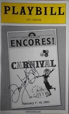 Douglas Sills (Only) Signed Playbill Carnival NY City Encores Anne Hathaway 2002